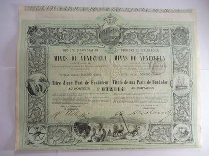 MINES DU VENEZUELA, part de fondateur N°3214...