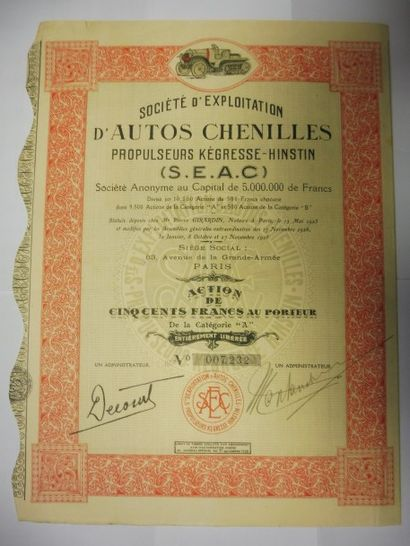 SOCIETE D'EXPLOITATION D'AUTOS CHENILLES...