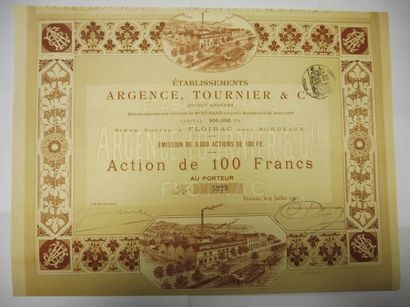 ETABLISSEMENTS ARGENCE TOURNIER et Cie action...