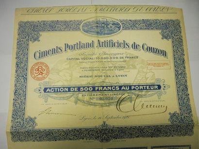CIMENTS PORLAND ARTIFICIELS DE COUZON action...