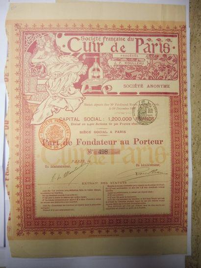 SOCIETE FRANCAISE DU CUIR DE PARIS action...
