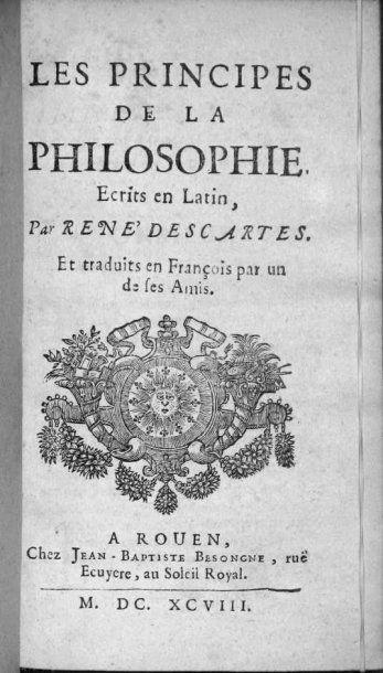 DESCARTES (René).