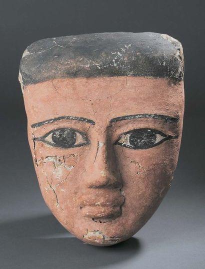 Grand masque anthropomorphe dont les détails...