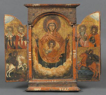 - La Vierge du Signe - triptyque Debout,...