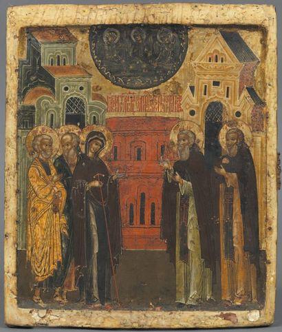 - Apparition de la Vierge à Saint Serge Adorateur...