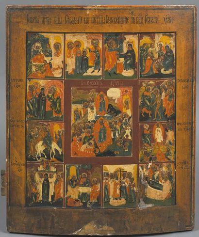 - Résurrection entouré des douze saintes...