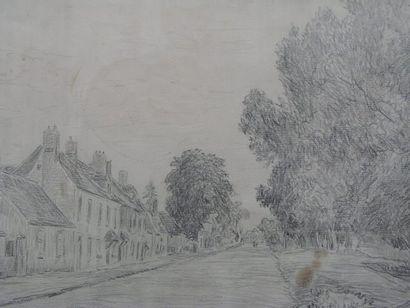 DAUCHEZ ANDRÉ (1870-1943) Le hameau Crayon, signé en bas à gauche. 26x44cm