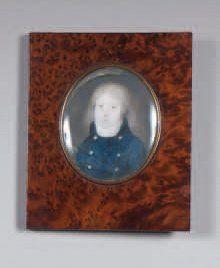 Miniature ovale représentant Lafont de Saint-Georges...