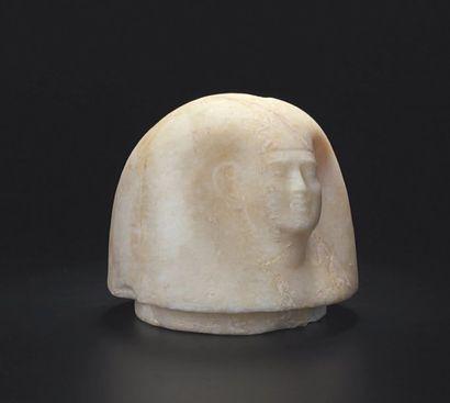 Bouchon de vase canope représentant la tête...