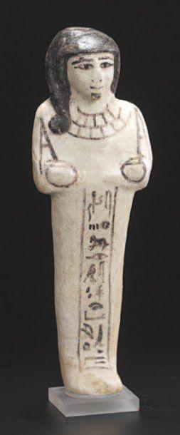 Oushebti momiforme, inscrit sur une colonne...