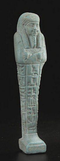 Oushebti momiforme à pilier dorsal gravé...