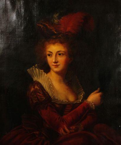 ECOLE FRANCAISE du XIXe siècle, dans le goût du dernier tiers du XVIIIe siècle