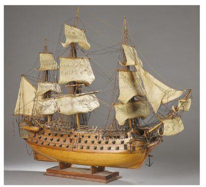 MAQUETTE du navire de guerre britannique,...