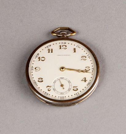 MONTRE de gousset savonnette chronographe...