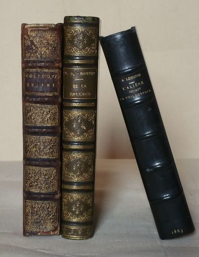 [Philosophia, trois ouvrages]. (ERASME)....