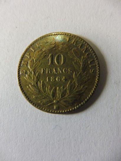 1 PIECE DE 10 FF, 1864 en or