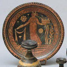 ASSIETTE en céramique peinte représentant...