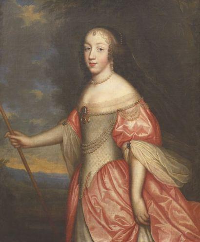 Attribué à Charles (1604-1692) ou Henri (1603-1677) BEAUBRUN Portrait de femme en...