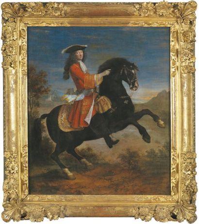 Jean Baptiste MARTIN dit MARTIN DES BATAILLES (1659-1735) Portrait équestre Toile....