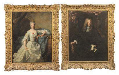 Atelier de Hyacinthe RIGAUD (1659-1743) Portrait de Madame Larcher en Cérès Toile....