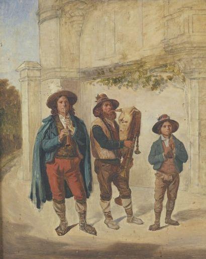 École ITALIENNE, vers 1820, entourage de Bartolomeo PINELLI