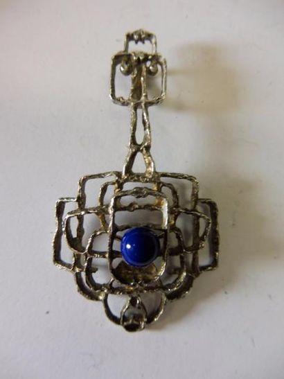 PENDENTIF motif d'entrelacs perle de sodalite...