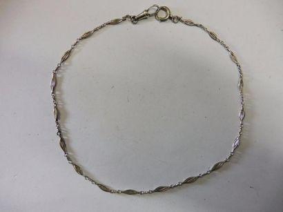 CHAINE DE MONTRE alternance maillon fuseau et maillon forçat mousqueton anneau ressort...