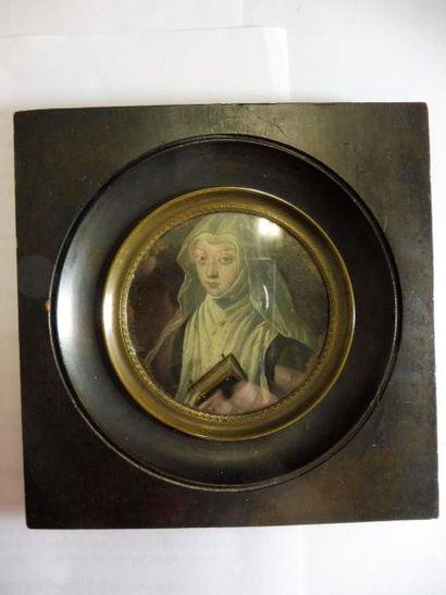 ECOLE FRANCAISE, début XVIII ''l'abbesse...