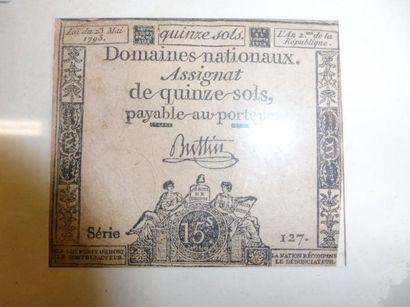 ASSIGNAT de 15 sols, loi de 1793, série 127...