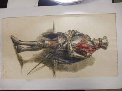 BETOUT C. personnage en arme du XVème dessin...