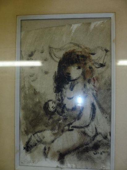 VIGNY Sylvain 1902-1970 ''l'enfant à la poupée''...