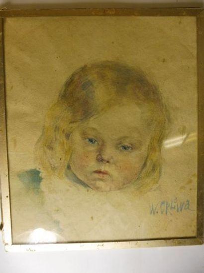 ECOLE RUSSE vers 1920''portrait d'enfant''...