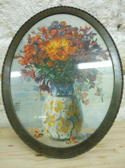 CROISSANT Auguste 1870-1941 ''le vase de...