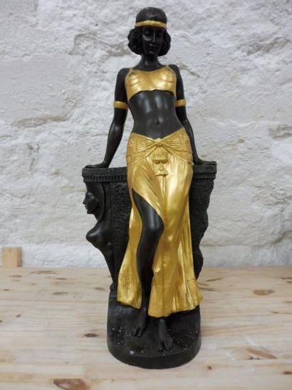 CASTILLON ''la belle nubienne'' bronze à...