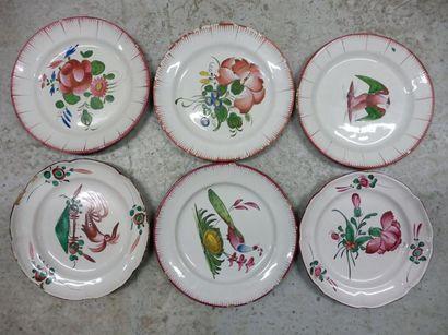 ISLETTES 6 assiettes plates décor ''aigle...