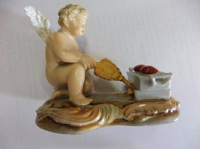 ''Amour réchauffant les cœurs'' porcelaine...