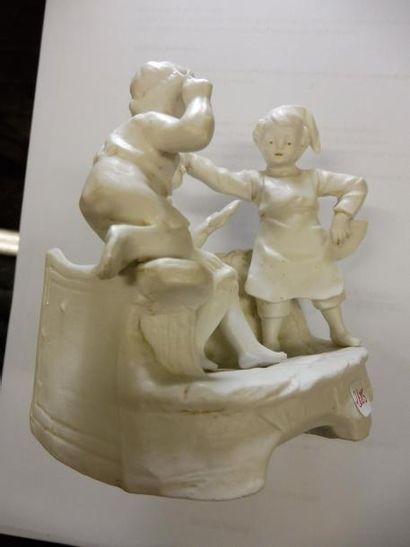 PETIT PORTE BOUQUET ''trois enfants jouant...