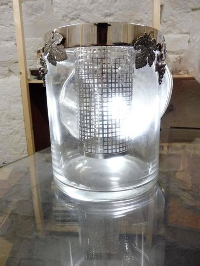 SEAU A GLACE de forme cylindrique, verre...