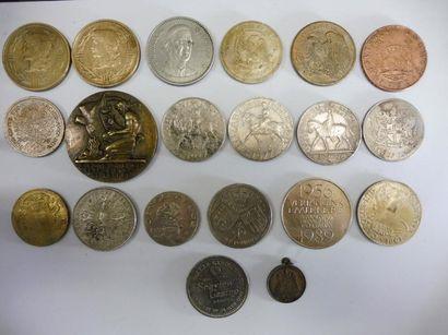 19 MEDAILLES en bronze