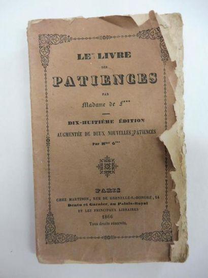 LE LIVRE DES PATIENCES par Madame F. 18ème...