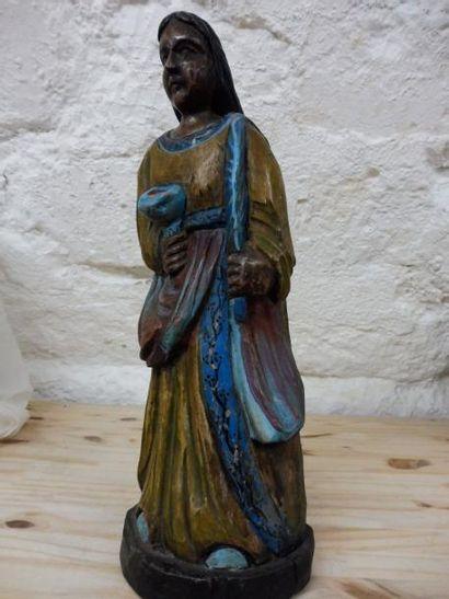 ''Jeune femme martyre'' tenant la palme et...
