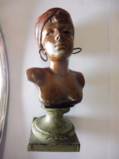 ''Buste de jeune fille au turban rouge''...