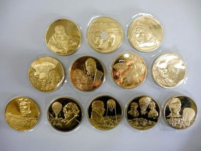12 MEDAILLES du médailler FRANKLIN: série...