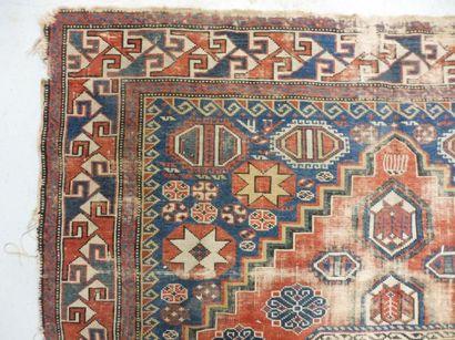 3 TAPIS à mihrabs à fond rouge 122 x 87 cm...