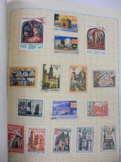 PETITE COLLECTION de 72 timbres-poste d'URSS...