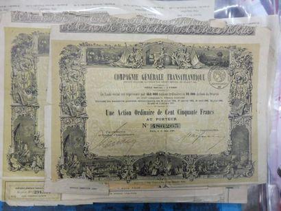 LOT de 164 titres principalement français...