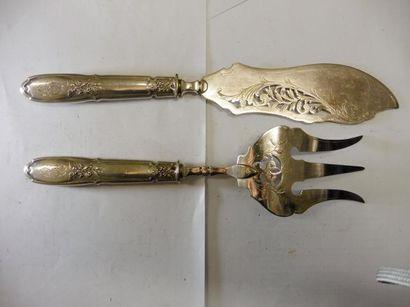COUVERT DE SERVICE A POISSON spatule violonée...