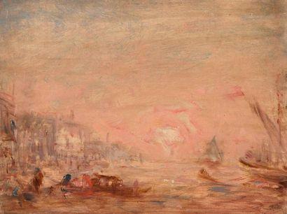 ECOLE FRANÇAISE XIXe siècle, dans le goût de Félix ZIEM (1821-1911)