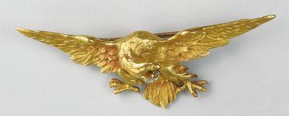 Belle BROCHE ancienne en forme d'aigle en...