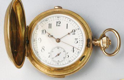 MONTRE DE GOUSSET chronographe en or jaune,...